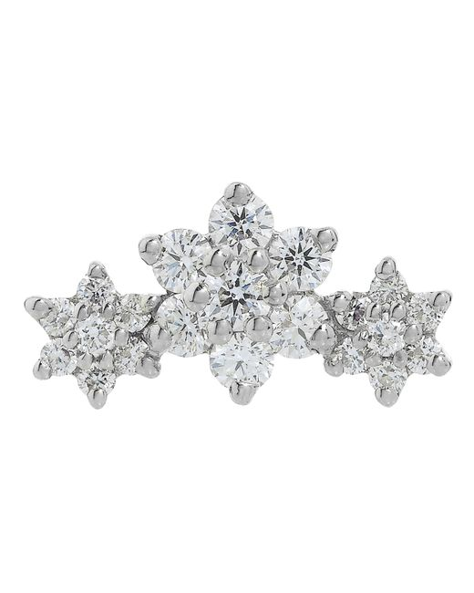 Maria Tash - Multicolor Diamond Flower Garland Threaded Stud Earring - Lyst