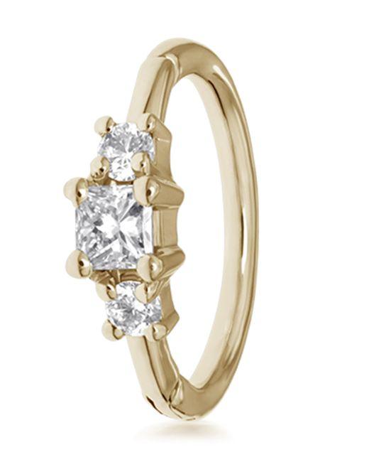 Maria Tash - Metallic 2mm Diamond Princess Ring - Lyst