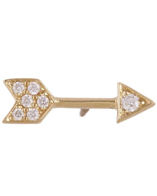 Maria Tash - Metallic 9.6mm Diamond Arrow Threaded Stud Earring - Lyst