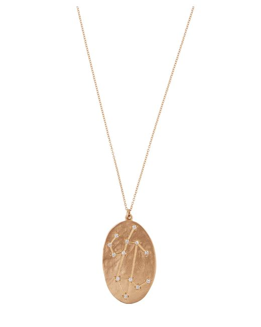 Brooke Gregson - Metallic Gold Leo Astrology Diamond Necklace - Lyst
