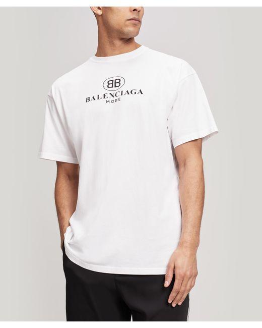 6c8b9bea4354 Balenciaga Mode Logo T-shirt in White for Men - Save 21% - Lyst