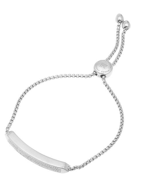 Monica Vinader - Metallic Silver Baja Skinny Diamond Bracelet - Lyst
