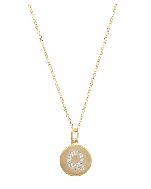 KC Designs | Metallic Gold And Diamond Letter Q Disc Pendant Necklace | Lyst