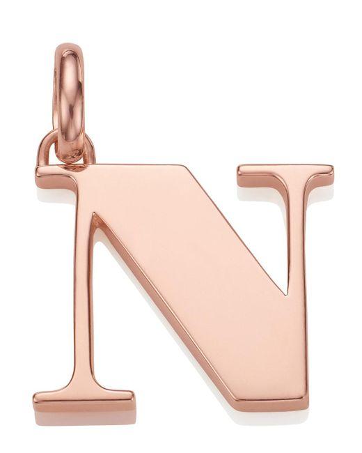 Monica Vinader | Pink Rose Gold-plated Alphabet Pendant N | Lyst