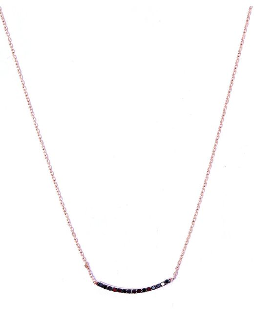 Kismet by Milka | Metallic Small Gold Lumiere Black Diamond Necklace | Lyst