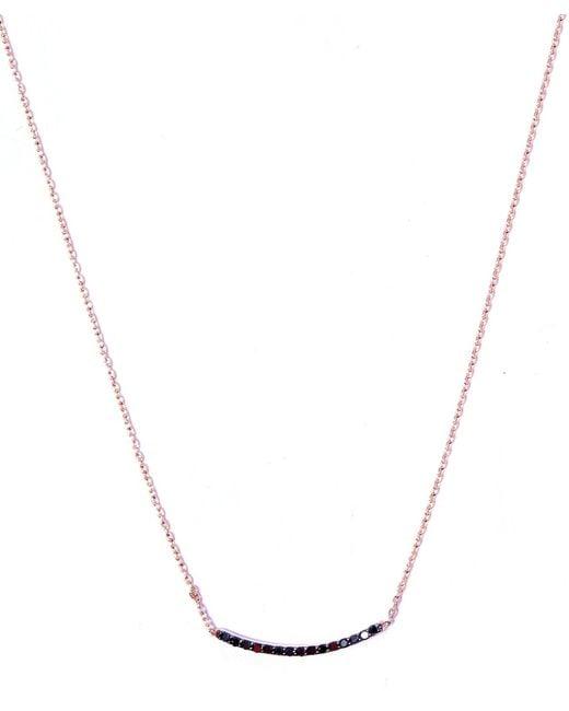Kismet by Milka | Metallic Small Gold Lumiere Black Diamond Necklace | Lyst