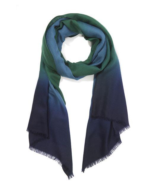 Paul Smith | Blue Wool Silk Check Scarf | Lyst