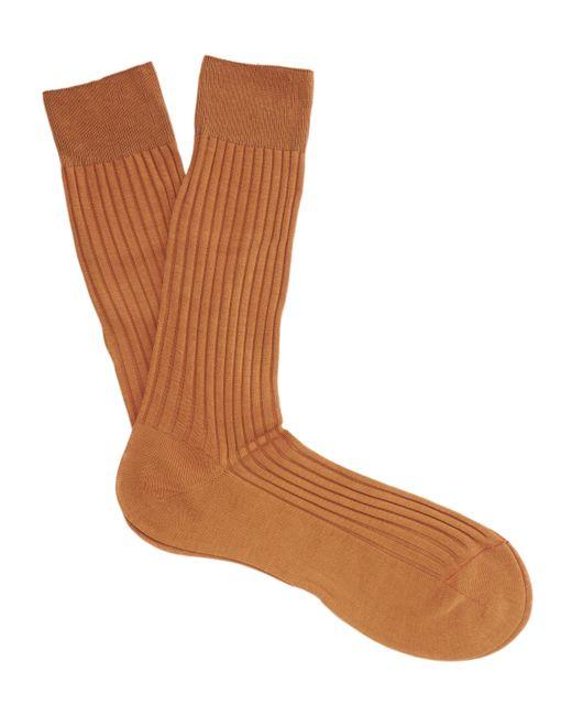 Pantherella | Orange Danvers Ribbed Socks for Men | Lyst