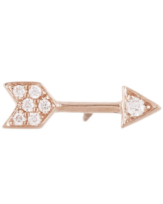 Maria Tash - Pink 9.6mm Diamond Arrow Threaded Stud Earring - Lyst