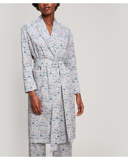 Liberty - White Imran Tana Lawn Cotton Long Robe - Lyst