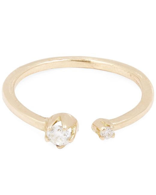 Andrea Fohrman - Metallic Gold Double Diamond Ring - Lyst