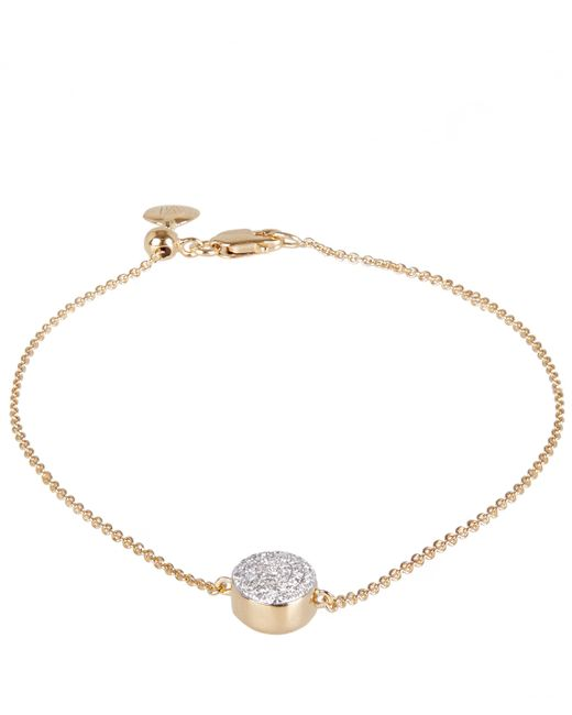 Monica Vinader | Metallic Gold Vermeil Diamond Ava Button Bracelet | Lyst