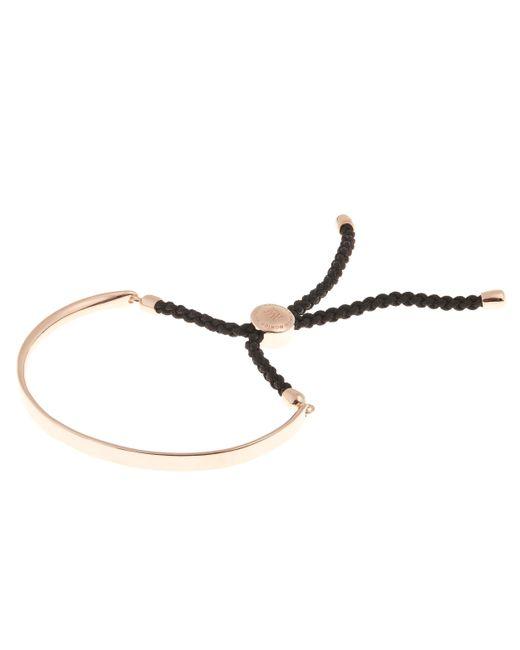 Monica Vinader - Multicolor Rose Gold Vermeil Black Cord Fiji Bracelet - Lyst