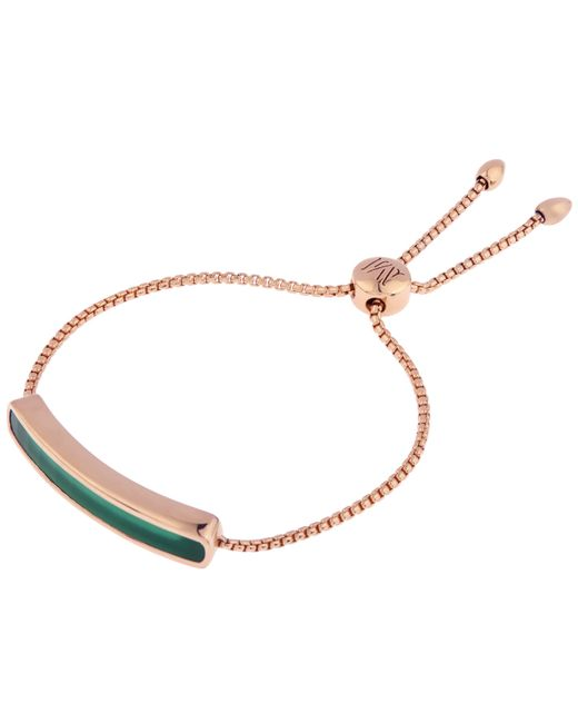 Monica Vinader - Multicolor Vermeil Green Onyx Baja Chain Bracelet - Lyst