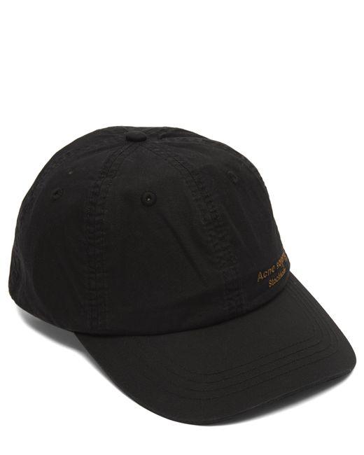 140f2959bb5 Lyst - Acne Studios Carliy Dye Cotton Baseball Cap in Black for Men