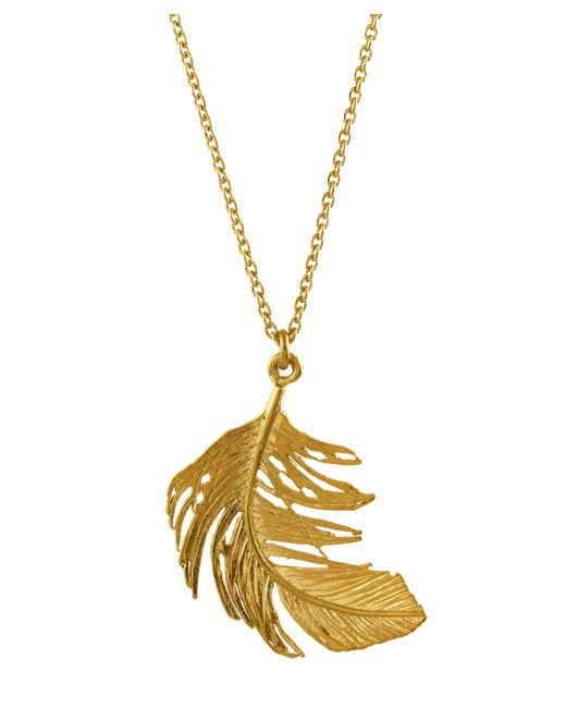 Alex Monroe | Metallic Large Feather Necklace | Lyst