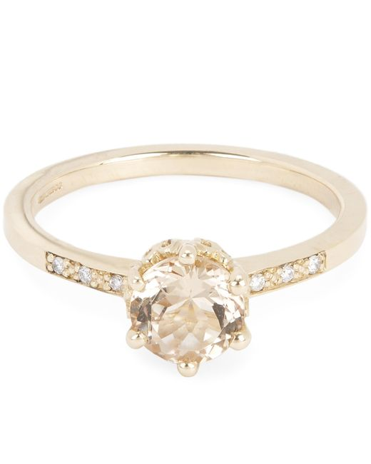 Anna Sheffield - Metallic Gold Hazeline Morganite Ring - Lyst