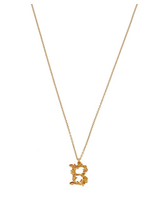 Alex Monroe - Metallic Gold-plated Floral Letter B Alphabet Necklace - Lyst