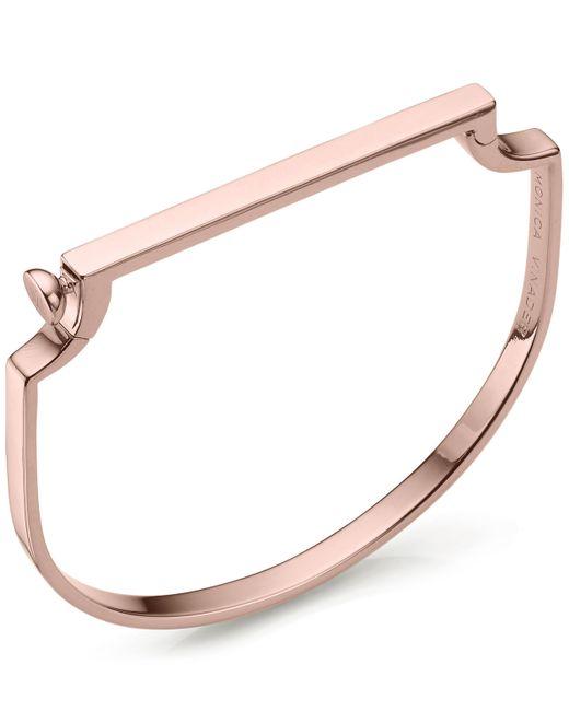 Monica Vinader - Pink Rose Gold Vermeil Signature Petite Thin Bangle - Lyst