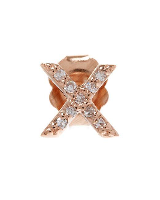 KC Designs - Multicolor Rose Gold Diamond X Single Stud Earring - Lyst