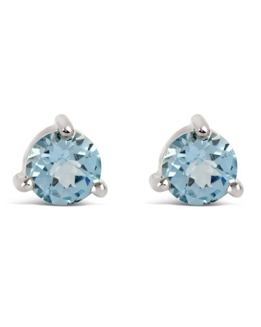 Dinny Hall - Metallic Silver Gem Drops Sky Blue Topaz Round Stud Earrings - Lyst