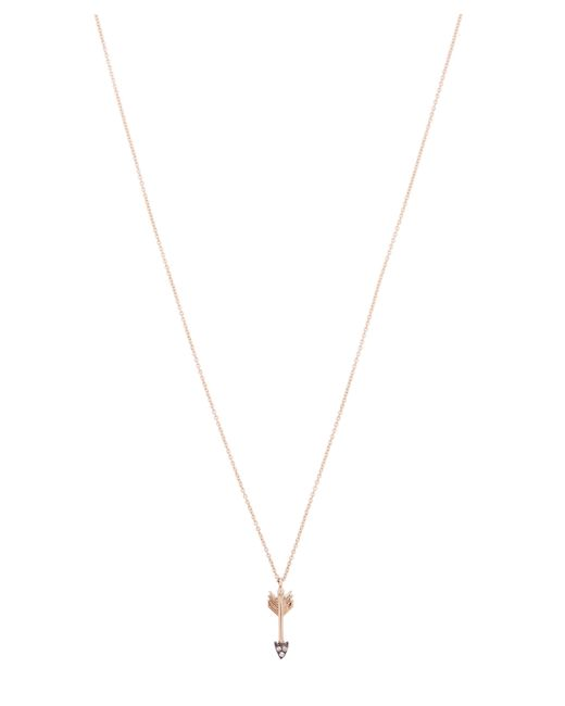 Kismet by Milka - Metallic Gold Arrow White Diamond Necklace - Lyst