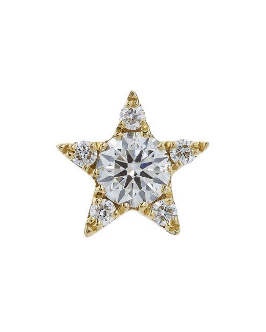 Maria Tash - Multicolor 5.5mm Diamond Star Threaded Stud Earring - Lyst