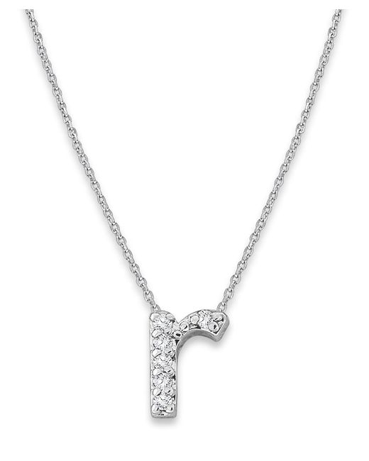 KC Designs - Metallic White Gold Diamond Letter R Necklace - Lyst