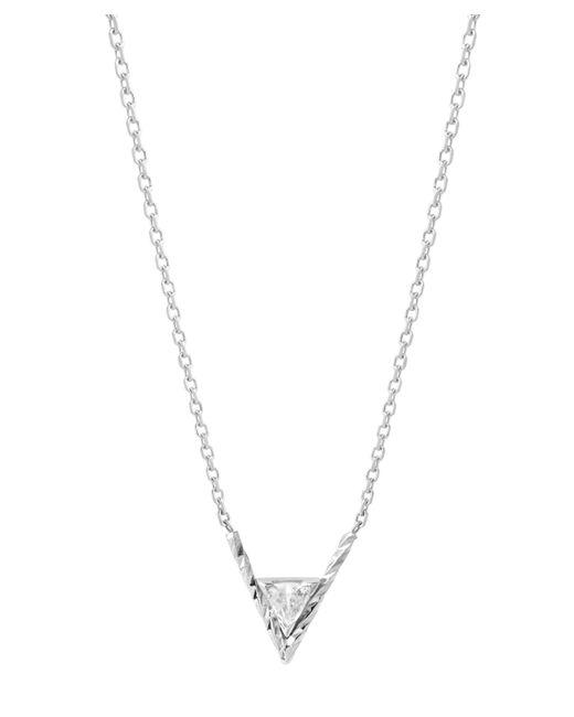 Maria Black - Metallic White Gold Diamond Cut Viper Necklace - Lyst