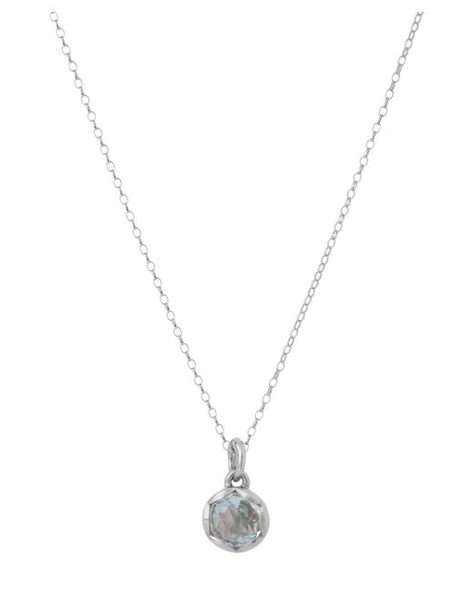 Dinny Hall - Metallic Large Silver Fluted Orb Sky Blue Topaz Charm Pendant Necklace - Lyst