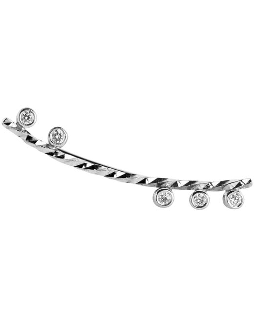 Maria Black - Metallic White Gold Diamond Cut Colette Right Earring - Lyst