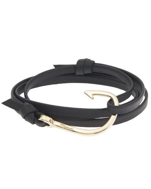 Miansai - Black Hook On Leather Bracelet - Lyst