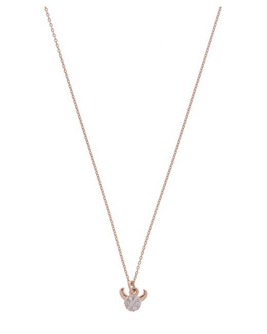 Kismet by Milka - Metallic Rose Gold Horoscope Taurus White Diamond Pendant Necklace - Lyst