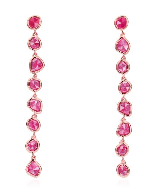 Monica Vinader - Multicolor Rose Gold Vermeil Siren Pink Quartz Mini Nugget Cocktail Earrings - Lyst