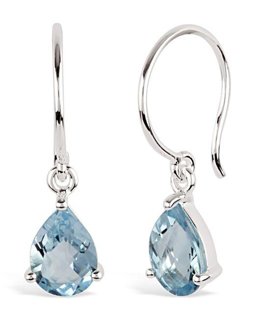 Dinny Hall - Metallic Silver Gem Drops Blue Topaz Drop Earrings - Lyst