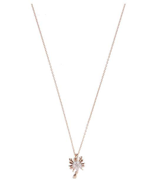 Kismet by Milka - Metallic Rose Gold Horoscope Scorpio White Diamond Pendant Necklace - Lyst
