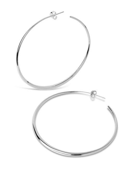 Dinny Hall | Metallic Large Tapering Hoop Earrings | Lyst