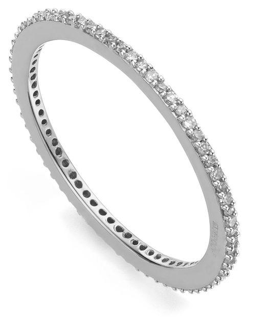 Monica Vinader - Metallic Silver Skinny Diamond Eternity Ring - Lyst