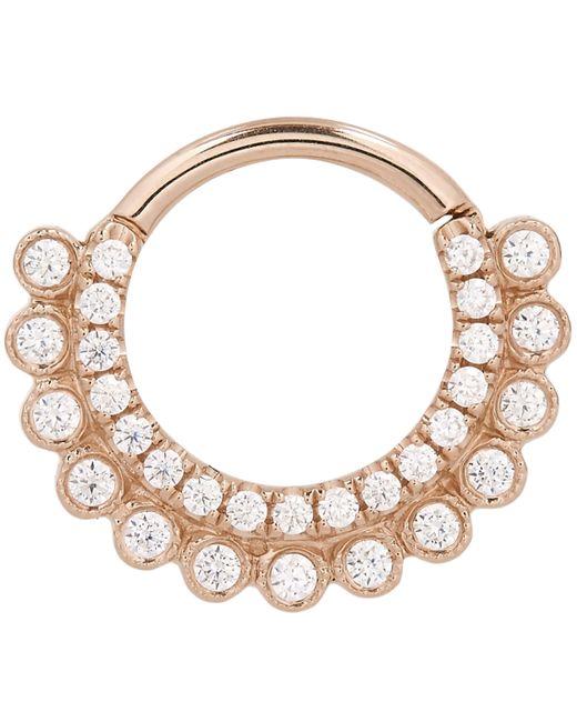 "Maria Tash - Metallic 5/16"" Cubic Zirconia Aspara Clicker Daith Ring - Lyst"