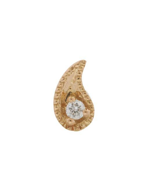 Maria Tash - Multicolor Diamond Paisley (right) Threaded Stud Earring - Lyst