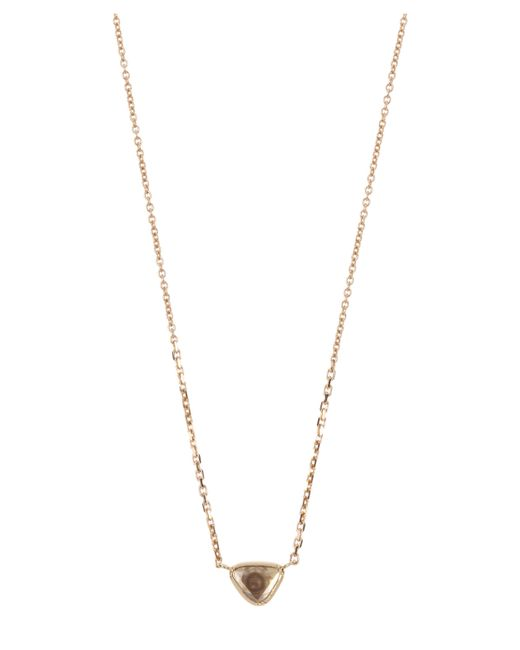 Brooke Gregson - Metallic Diamond Slice Teardrop Necklace - Lyst
