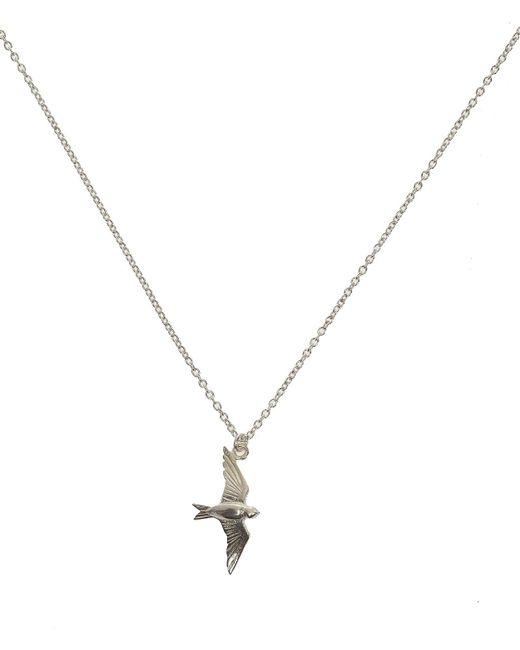 Alex Monroe | Metallic Silver Flying Swallow Necklace | Lyst
