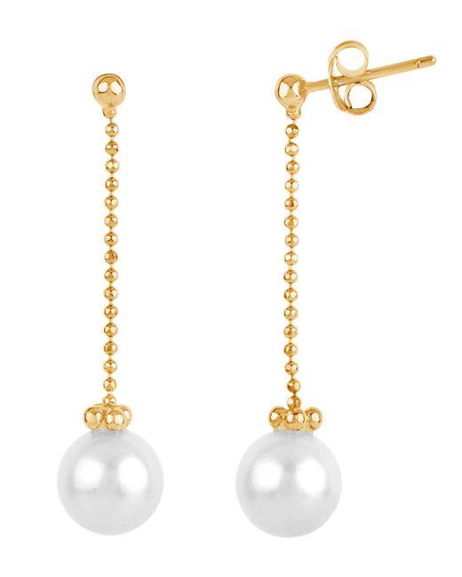 Dinny Hall - Metallic Gold Vermeil Freshwater Pearl Chain Drop Earrings - Lyst