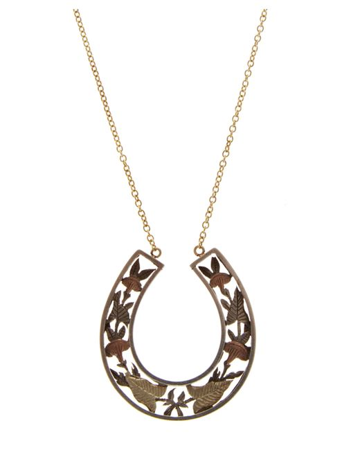 Annina Vogel - Metallic Silver And Gold Horseshoe Necklace - Lyst