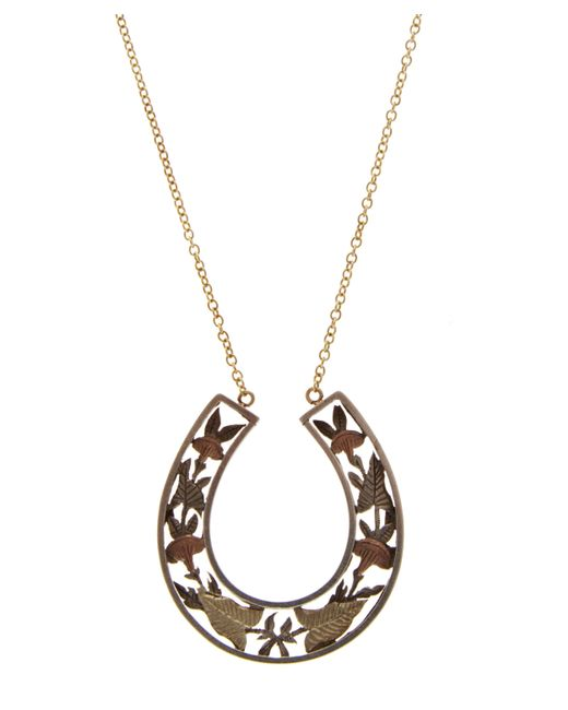 Annina Vogel | Metallic Silver And Gold Horseshoe Necklace | Lyst