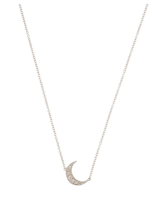 Andrea Fohrman - Multicolor White Gold White Diamond Pavé Mini Crescent Necklace - Lyst