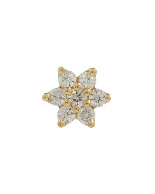 Maria Tash | Multicolor 3mm Diamond Flower Threaded Stud Earring | Lyst