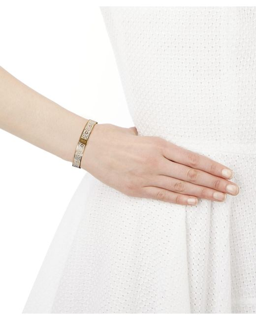 Liberty - White Pemberley Solid Floral Bracelet - Lyst