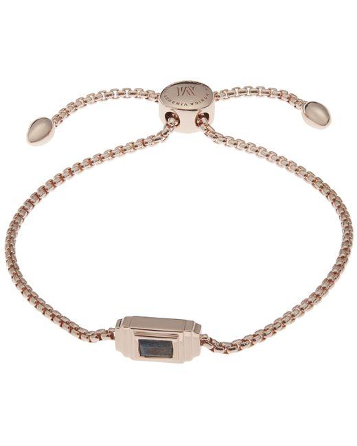 Monica Vinader - Metallic Rose Gold Vermeil Baja Deco Labradorite Bracelet - Lyst