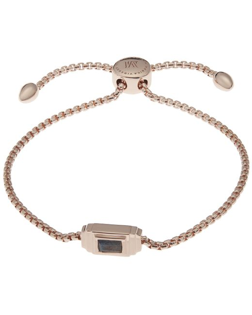 Monica Vinader - Metallic Rose Gold-plated And Labradorite Baja Deco Bracelet - Lyst